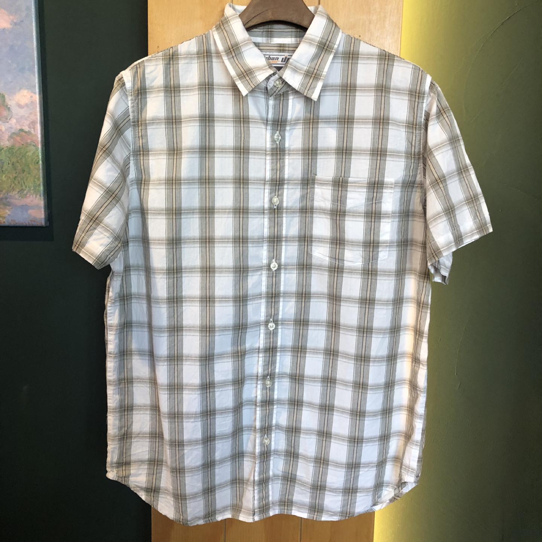 [일본구제] 베이지 체크 셔츠 L
