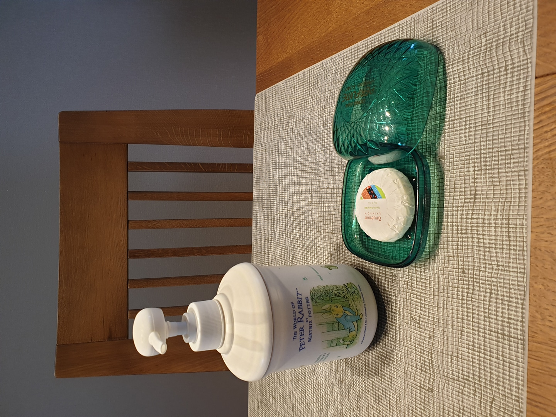 일본제 피터래빗 세제통과 비누통  비누는 (하와이) 아누에누에