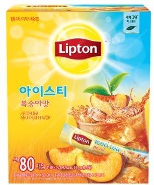 립톤 복숭아 아이스티 80T + 랜덤텀블러 (새상품/무배)
