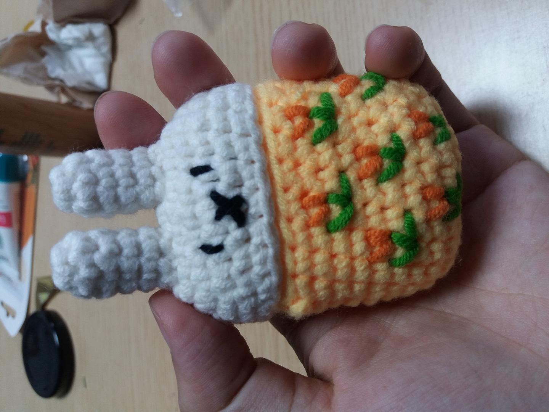새제품) 심쿵 토끼 미피 니트 에어팟 케이스