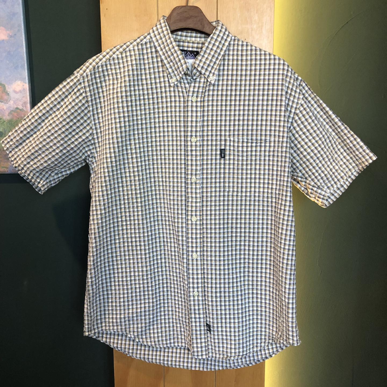 [일본구제] 잔체크 셔츠 L