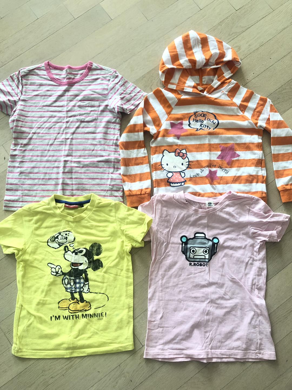 130사이즈 티셔츠4벌