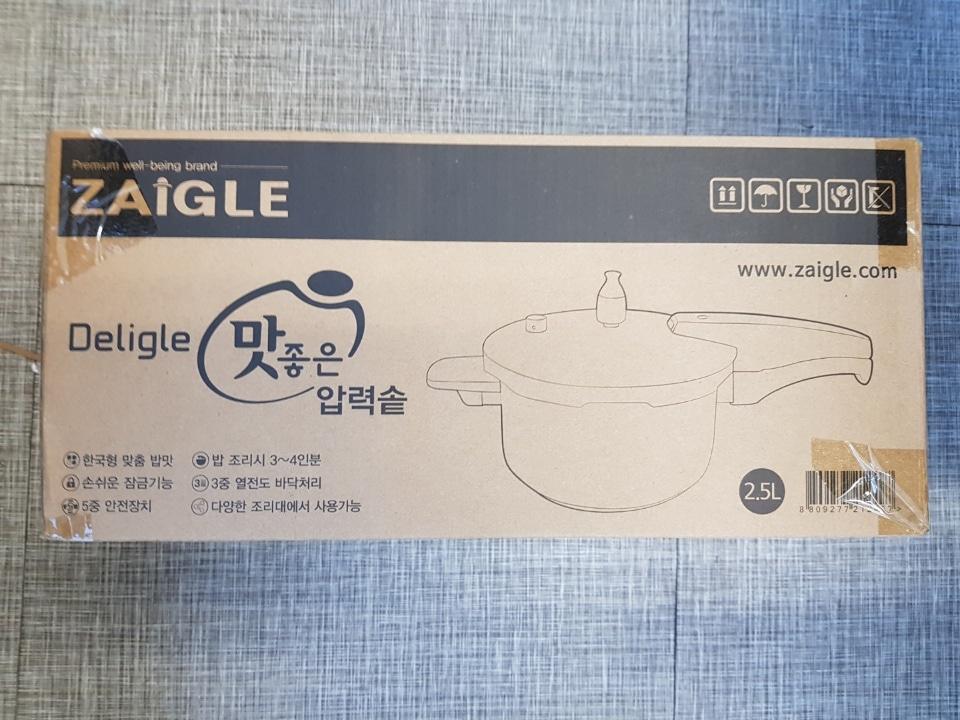 """<자이글>압력솥2.5L새상품""""미개봉"""""""
