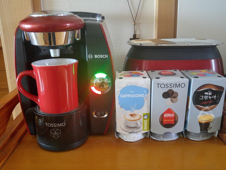타시모 커피머신+(커피캡슐:카푸치노6개,에스프레소5개,아메리카노6개 )