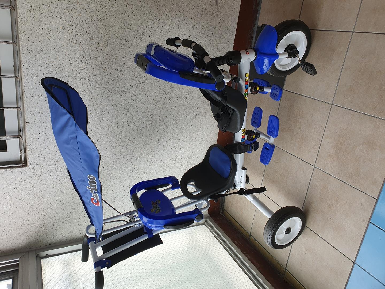 카리노 2인용 자전거 블루색