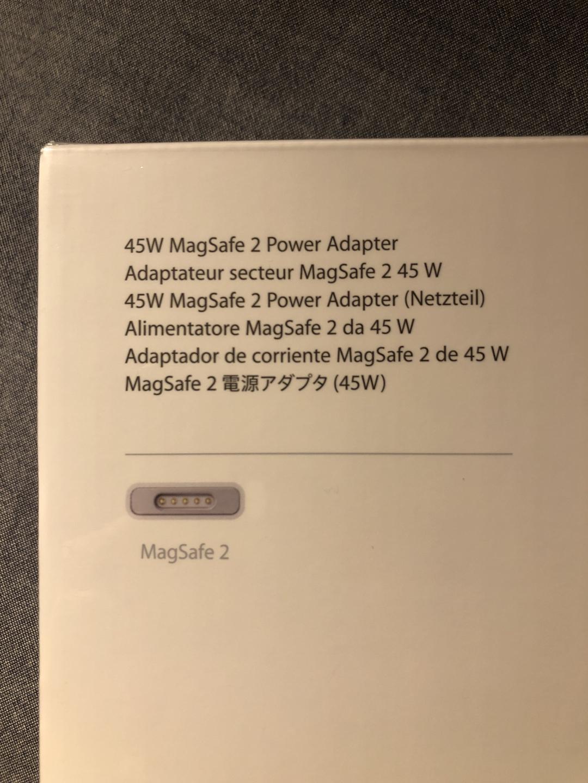 애플 Apple 45W MagSafe 2 전원 어댑터 미개봉 상품
