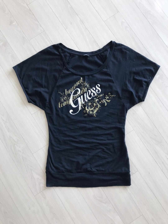 게스 티셔츠 블랙 55 라글란