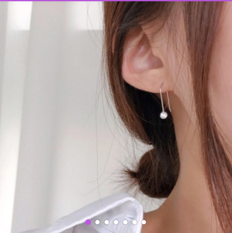 (새상품)심플한 드롭 귀걸이-순은