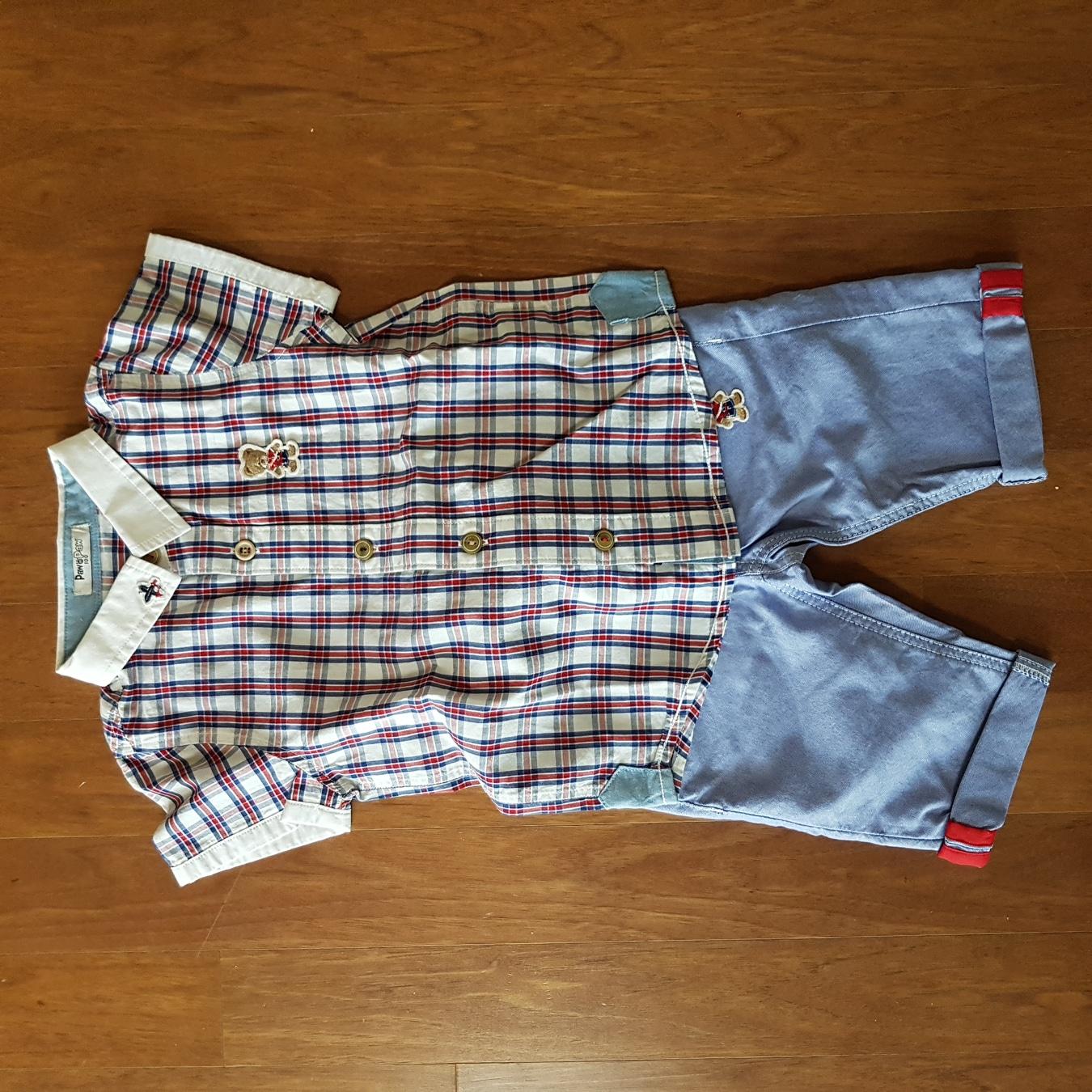 포인포 반팔상하 세트-새옷(100)
