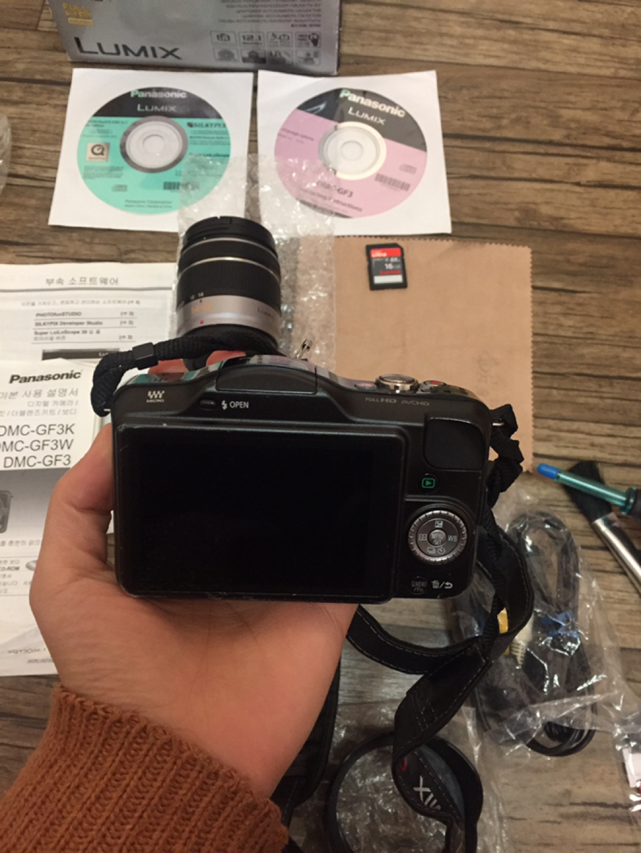 미러리스 카메라 루믹스 카메라+렌즈 두개