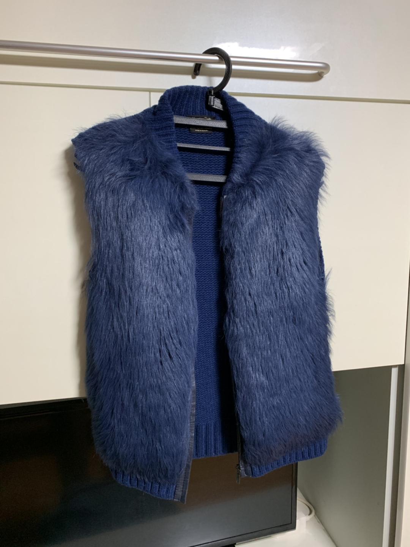 Massimo Dutti Blue Gilet Vest
