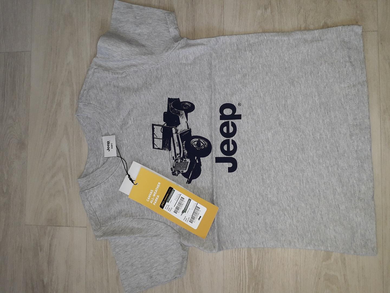 Jeep kid 110, grey T, made in KOREA 아동 셔츠