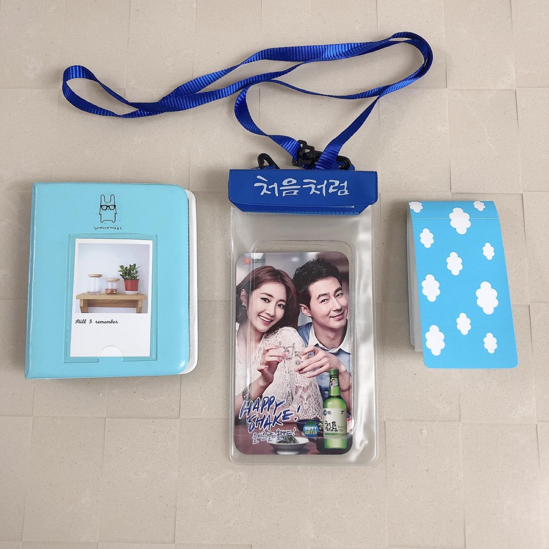 (일괄) 미니폴라로이드 앨범 2개+휴대용 방수팩