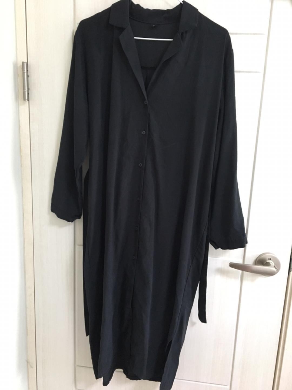 블랙 셔츠 원피스
