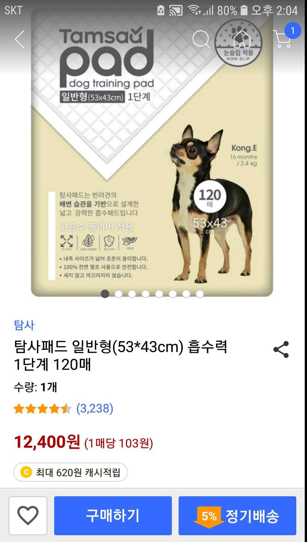 강아지 용변패드