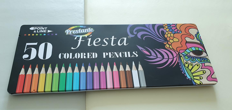 (유아동,임신태교)컬러링북,피에스타 색연필 50, 페트롤 오일, 색연필 천가방
