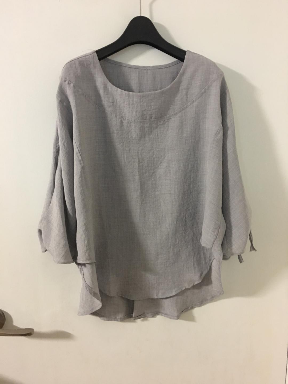 소매리본 트임 여성블라우스 (새옷)