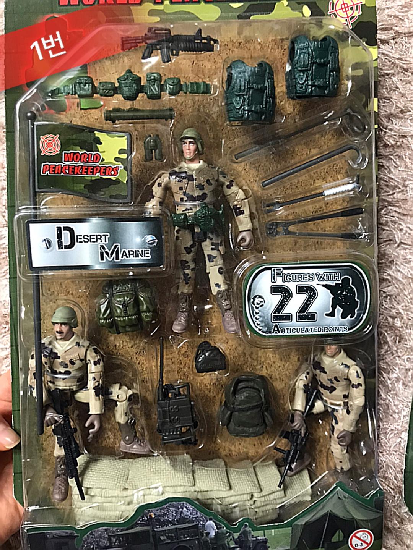 새상품) 미 해병대 군인 모형 피규어/네이비씰 미특공대 군인모형 피규어 1:18 / 미 육군 군인 모형 피규어