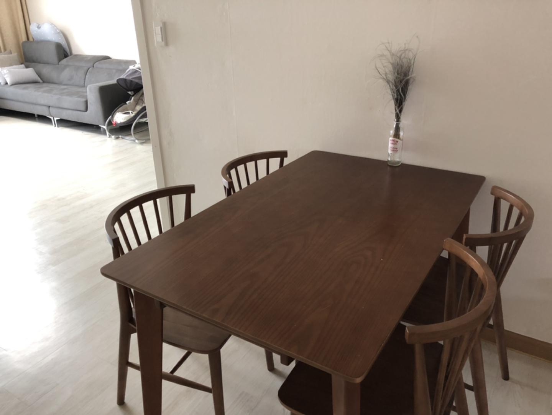 고무나무 원목 4인용 식탁
