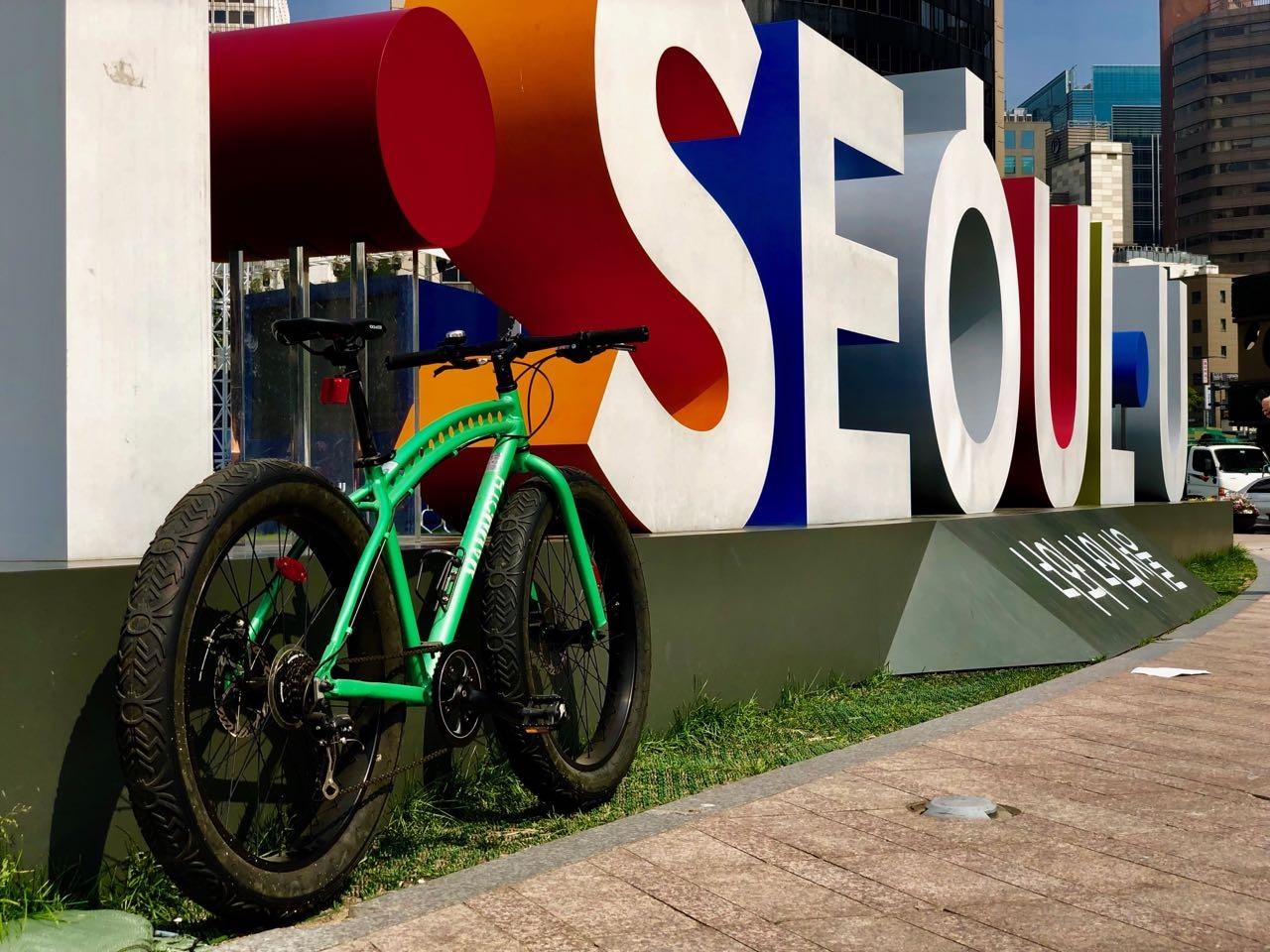 자전거 맘모스 팻바이크 녹색 새로운 NEW FatBike Mammoth