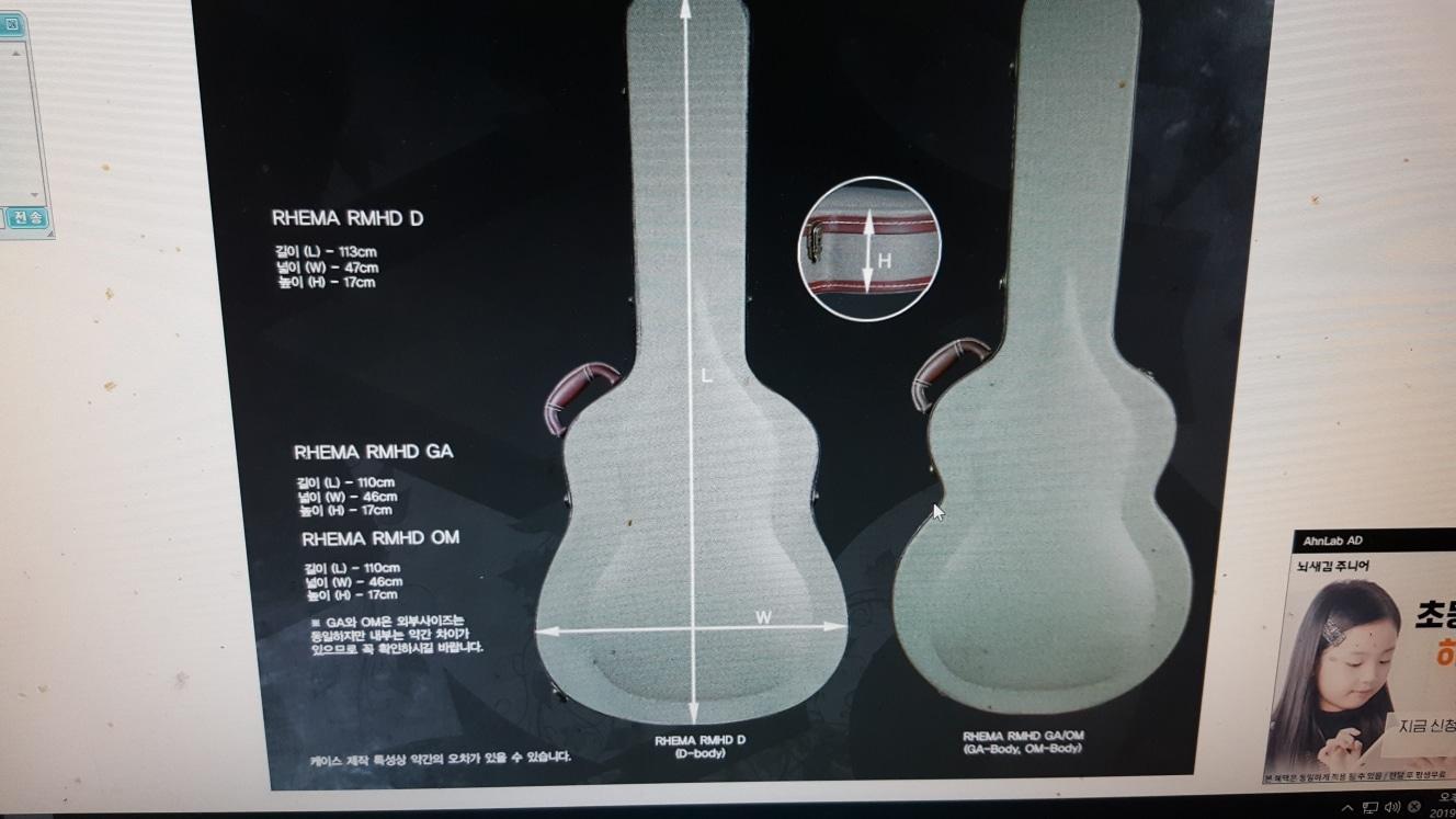 어쿠스틱 기타 기타케이스