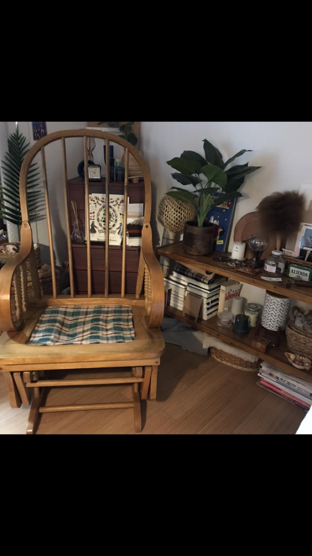 원목 흔들의자 인테리어 안락의자 등나무 빈티지 의자