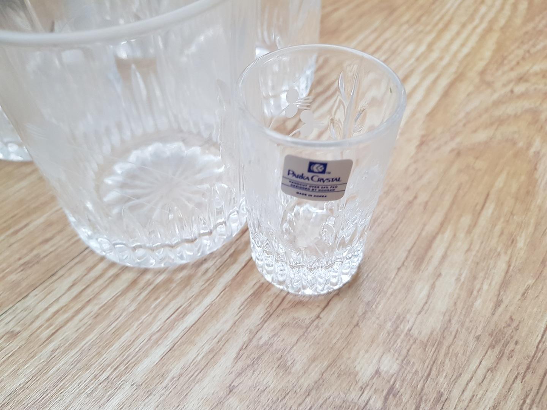 파커 크리스탈 유리잔 5ps