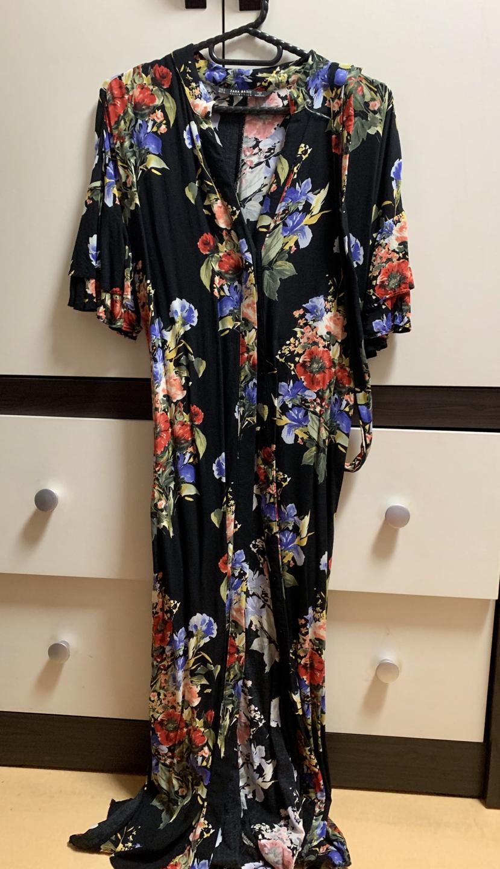 검정 꽃무늬원피스