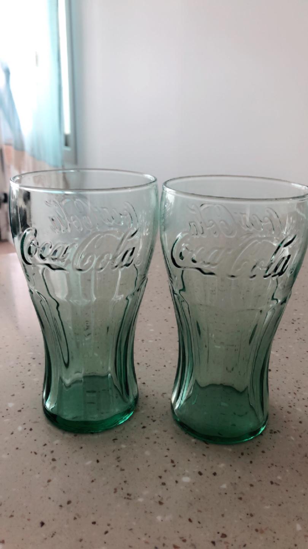코카콜라 유리컵.