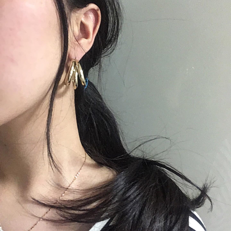 쓰리링 귀걸이
