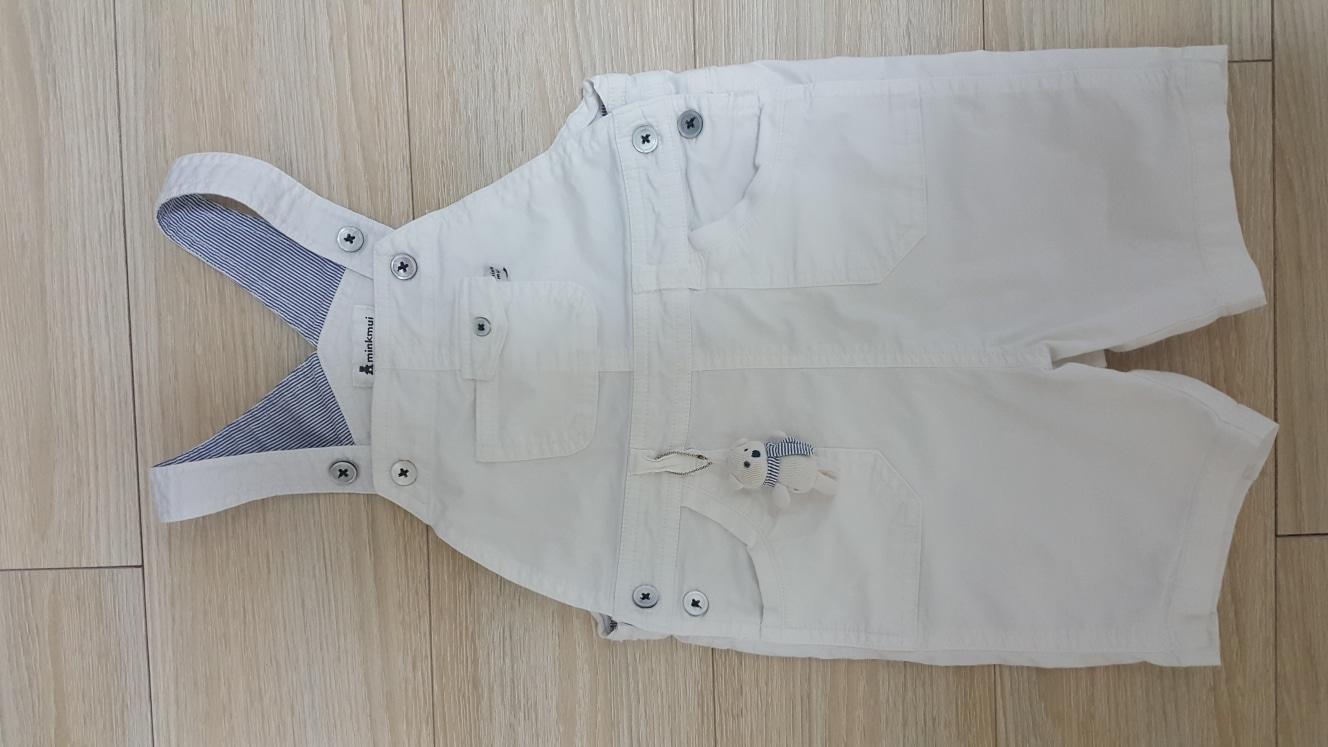 밍크뮤 100 유아 흰색 롬퍼