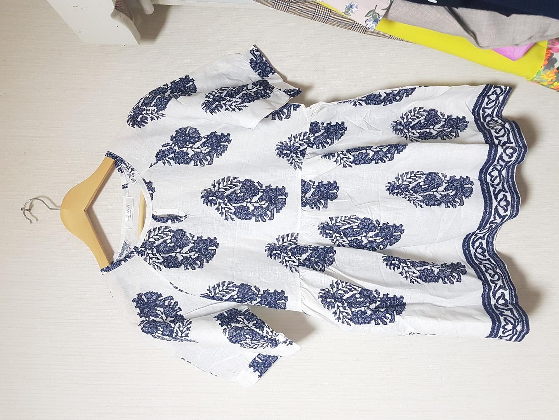 패턴원피스블라우스(새옷)