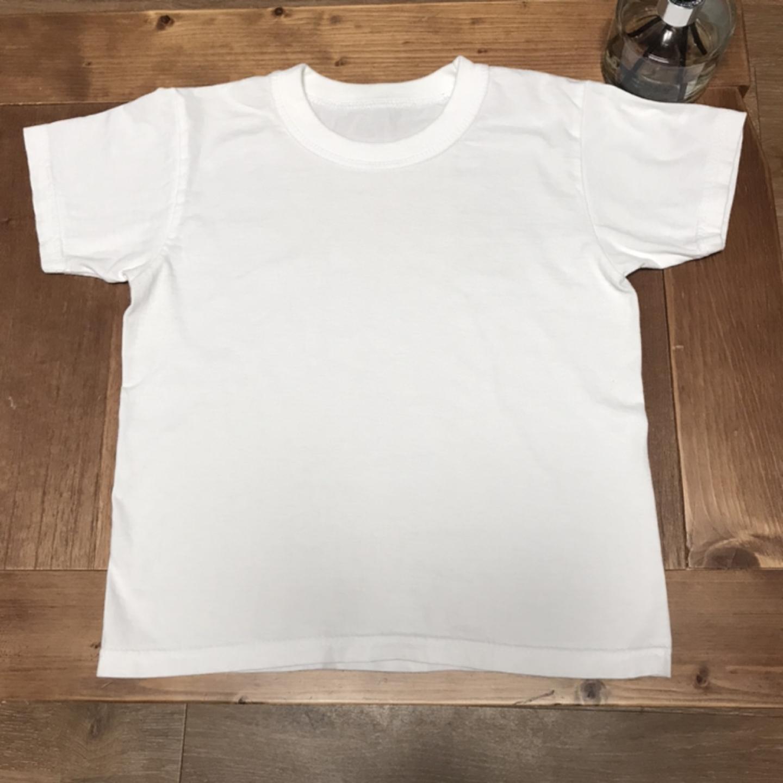 유아 흰색 면티셔츠 (6,7세정도)