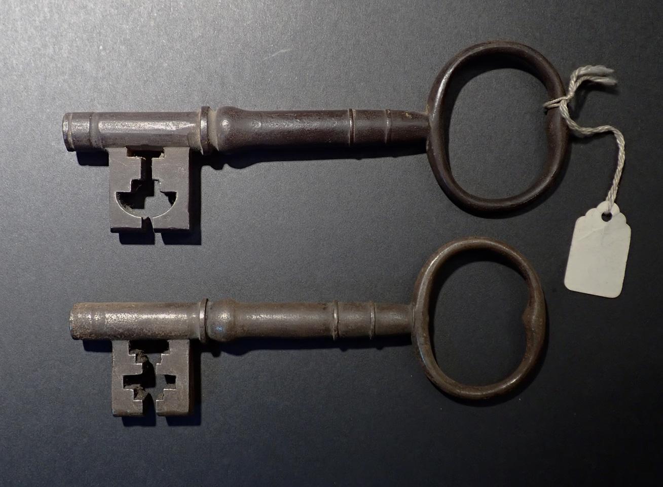영국빅토리아18세기때무쇠열쇠2개