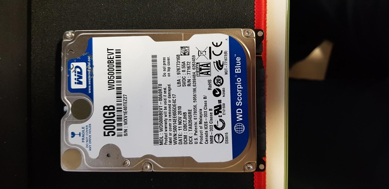 2.5인치 노트북 하드디스크 500GB