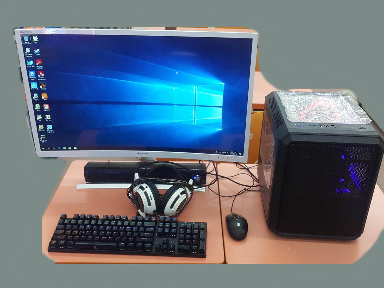 32인치커브드모니터와 게임용컴퓨터세트