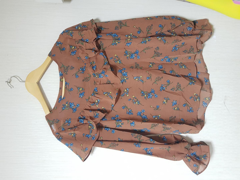 브라운꽃블라우스(새옷)