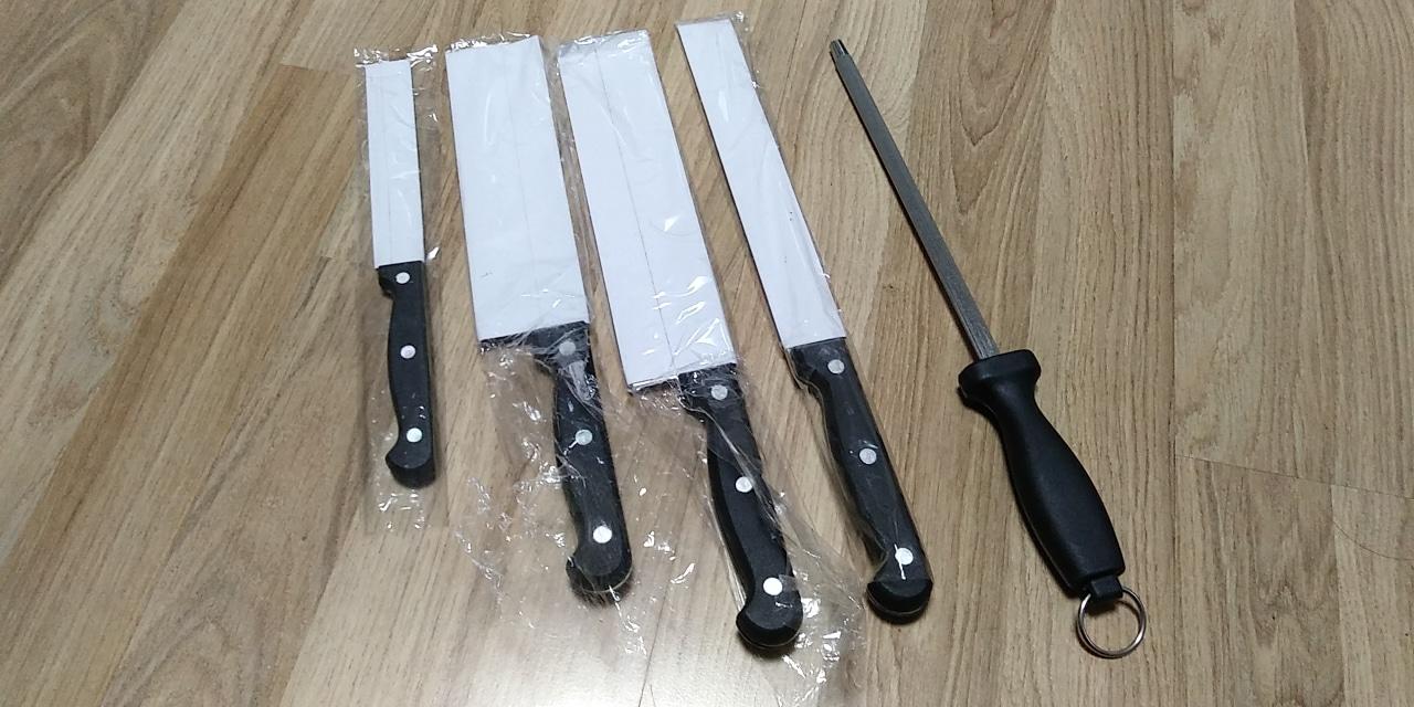 빵칼  과도칼 일반칼2개 칼갈이*새상품*