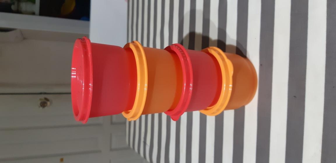새제품 타파웨어 이유식, 간식통 4개 세트