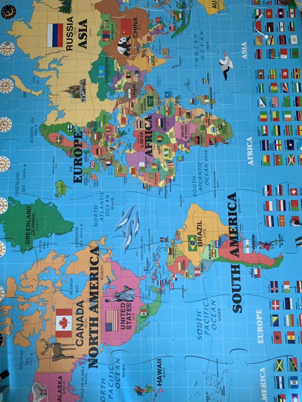 세계지도 놀이방 매트 퍼즐매트 (198x128x1.5)
