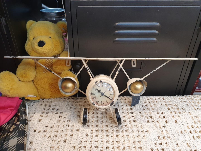 엔틱 비행기 수납벽시계