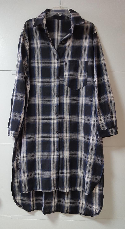 박시 봄 롱셔츠