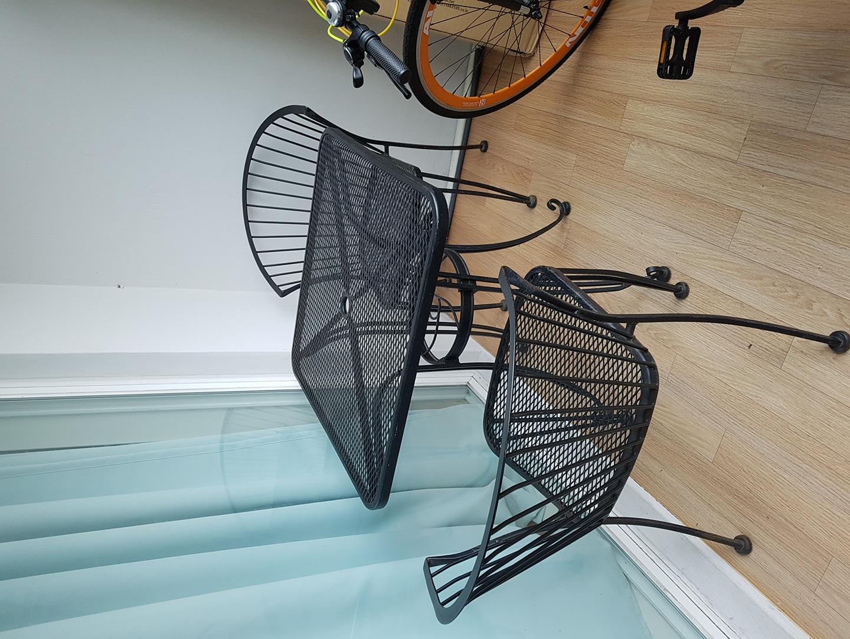 철제 야외 테이블 의자 세트 정원 테이블 카페테이블