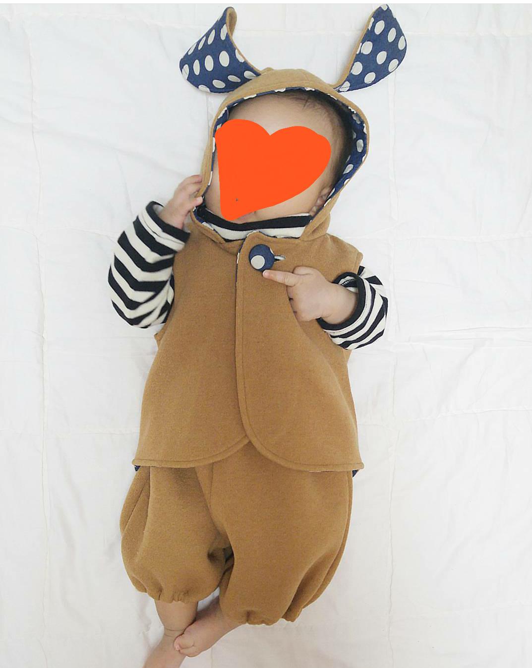 아기 호박바지 조끼세트