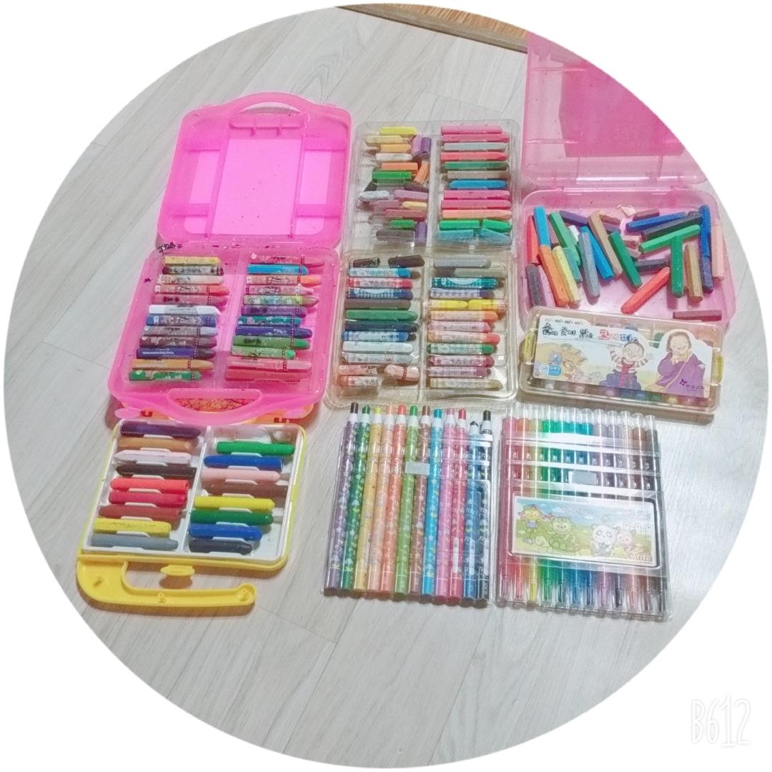 크레파스+색연필 다량