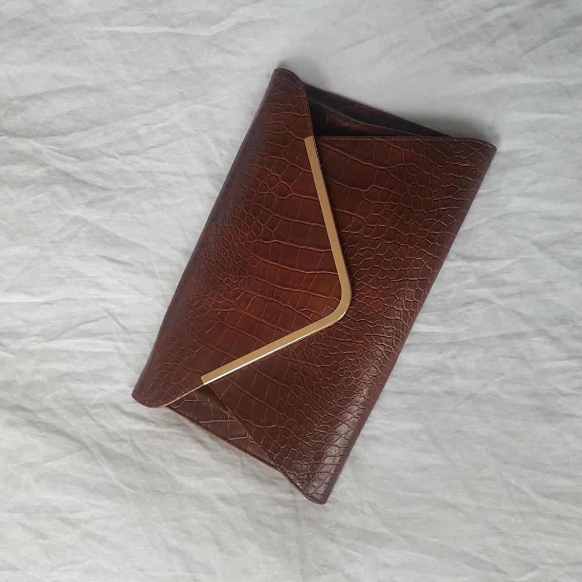 무료배송) 브라운 클러치 클러치백 파우치 가방 가죽가방