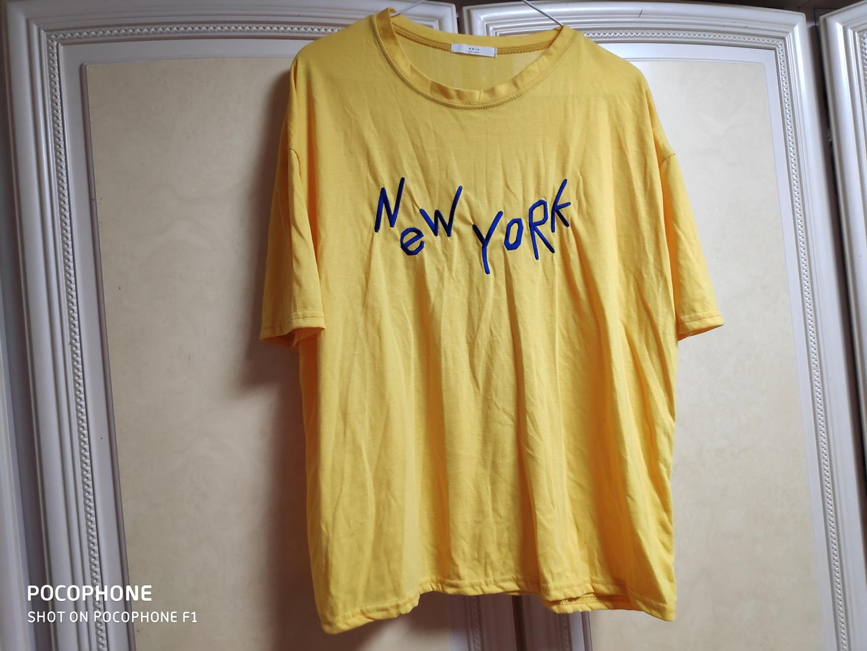 뉴욕 옐로우 티셔츠