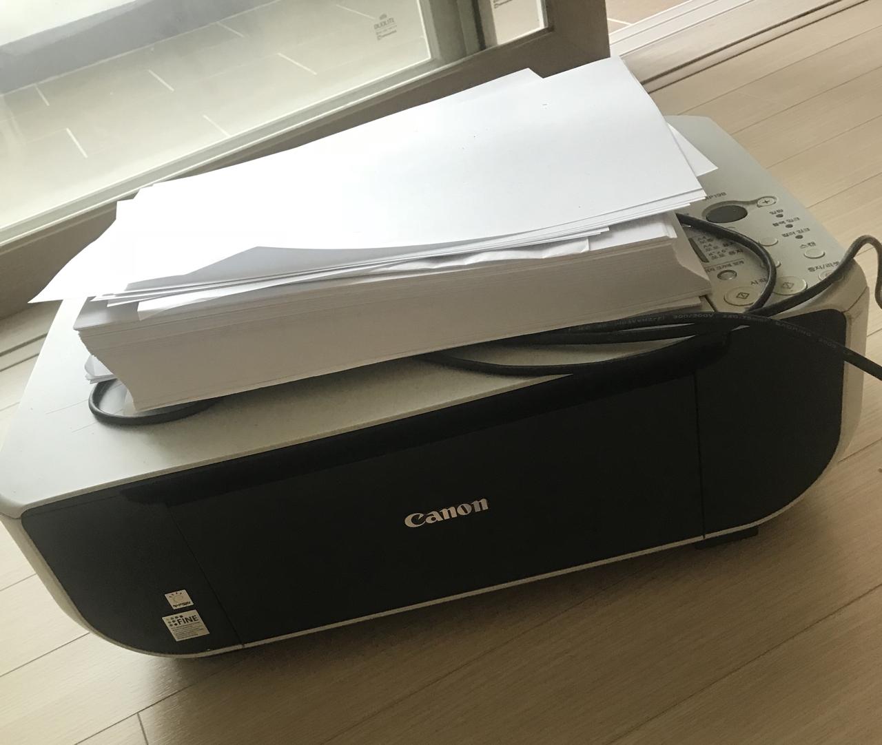케논 잉크젯 프린터기 MP198