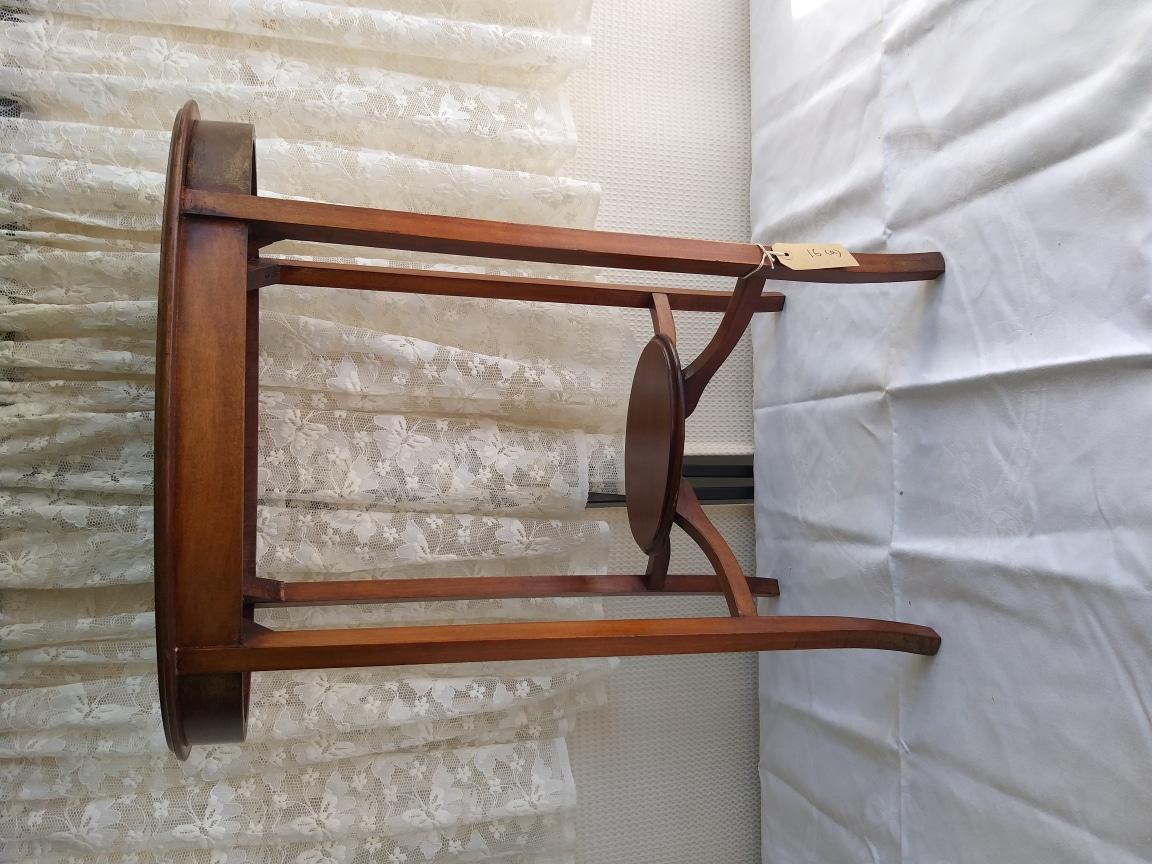 영국 1910년대 인레이 마호가니 타원테이블