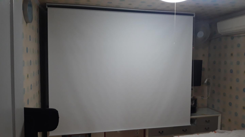 ✔️프로젝트 빔스크린(롤 스크린 형식 120인치 초대형 화면)